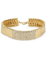 R.j. Graziano - Bar Accented Collar Necklace - Lyst