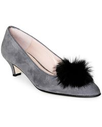 Patricia Green - Cara Faux Fur Suede Court Shoes - Lyst