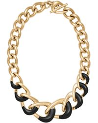 Michael Kors - Acetate Chain Link Collar Necklace - Lyst