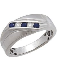 Lord & Taylor - 0.14tcw Diamond, Sapphire And 14k White Gold Ring - Lyst