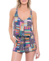 Blush By Profile - Candy Apple Romper Cover-up - Lyst