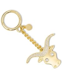 MICHAEL Michael Kors - Taurus Zodiac Charm Key Ring - Lyst