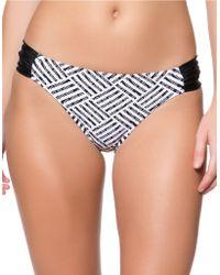 Jessica Simpson Botanica Geometric Hipster Bikini Bottom - Black