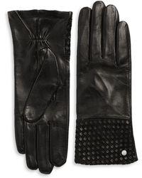 Michael Kors - Basketweaved Leather Gloves - Lyst