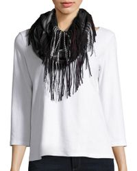 Lord & Taylor | Plaid Fringe Loop Scarf | Lyst