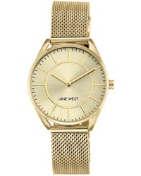 Nine West Analog Goldtone Stainless Steel Watch - Metallic