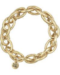The Sak - Goldtone Link Stretch Bracelet - Lyst