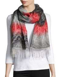 Lord & Taylor - Ombre Paisley Scarf - Lyst