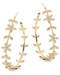 Tai - Golden Floral Hoop Earrings- 1.25 In. - Lyst