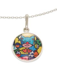 ALEX AND ANI - Friendship Bear Art Infusion Necklace Charm - Lyst