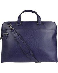 Lodis Jamie Leather Briefcase - Blue