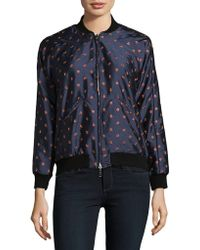 Nikki Chasin | Reversible Embroidered Bomber Jacket | Lyst
