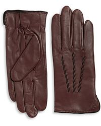 Lauren by Ralph Lauren - Thinsulate Leather Gloves - Lyst