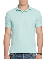 Lauren by Ralph Lauren - Classic Fit Weathered Mesh Polo - Lyst