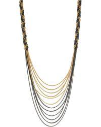 Jessica Simpson - Braided Drape Necklace - Lyst