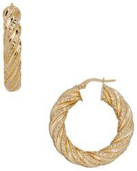 Lord & Taylor - 14k Italian Gold Hoop Earrings- 1.25in - Lyst