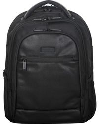Kenneth Cole Reaction - Leather-trimmed Nylon Backpack - Lyst