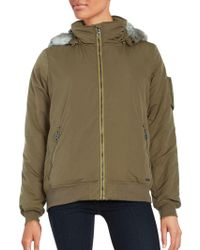 Bench - Faux Fur-accented Zip-up Jacket - Lyst