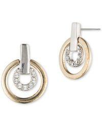 Judith Jack - Crystal & Sterling Silver Pave Door Knocker Earrings - Lyst
