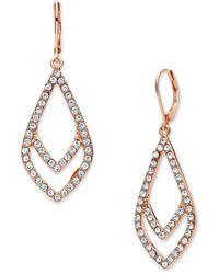 Anne Klein - Double Drop Earrings - Lyst