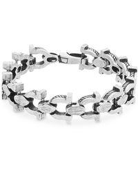Steve Madden - Stainless Steel Horseshoe Link Bracelet - Lyst