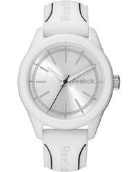 Reebok Silicone Strap Round Case Watch - White