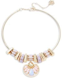Nanette Lepore - Stone Accented Collar Statement Necklace - Lyst
