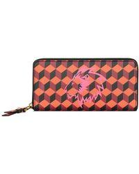 Anne Klein - Graphic Faux Leather Zip Around Wallet - Lyst