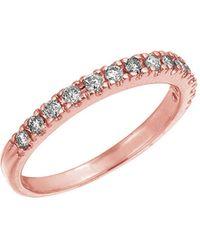 Morris & David Diamond Ring In 14 Kt. Rose Gold - Pink