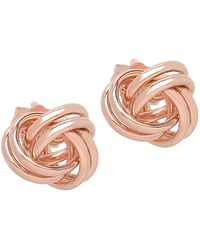 Lord + Taylor 14k Rose Gold Knot Earrings - Pink