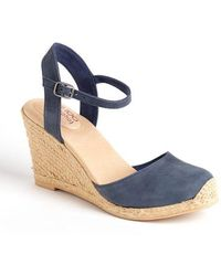 Me Too - Bethany Leather Wedge Platform Court Shoes - Lyst