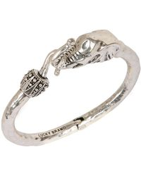 Lucky Brand Silvertone Bracelet With Elephant Embellishment - Metallic