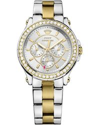 Juicy Couture - Ladies Pedigree Two Tone And Crystal Watch - Lyst