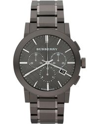 Burberry Mens The City Stainless Steel Chronograph Watch - Brown