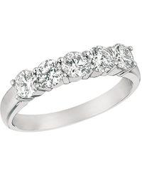 Morris & David Diamond And 14k White Gold Ring