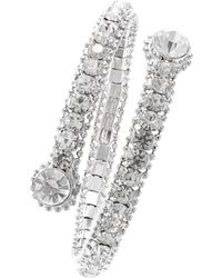 ABS By Allen Schwartz - Faceted Coil Wrap Bracelet/silvertone - Lyst