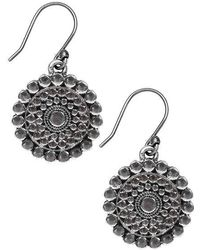 Lucky Brand - Silver-tone Drop Earrings - Lyst