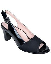 Taryn Rose - Fortula Patent Leather Slingback Court Shoes - Lyst