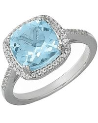 Lord & Taylor - 14 Kt. White Gold And Topaz Ring - Lyst