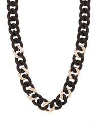 ABS By Allen Schwartz - Pavé Silicone Link Necklace/black - Lyst