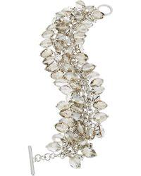 ABS By Allen Schwartz - Briolette Fringe Toggle Bracelet - Lyst