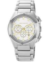Vince Camuto - Mens Stainless Steel Bracelet Watch With Goldtone Accents - Lyst