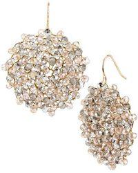Kenneth Cole Woven Drop Earrings - Metallic