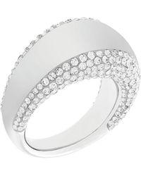 Swarovski - Pebble Silvertone And Crystal Ring - Lyst