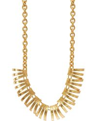 Gerard Yosca Fringed Necklace - Metallic
