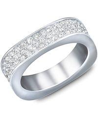 Swarovski - Vio Crystal And Silvertone Ring Size 8 - Lyst