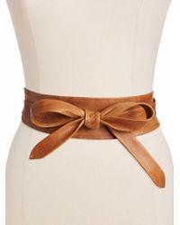 Ada - Leather Wrap Belt - Lyst
