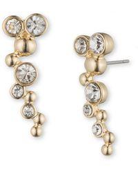 Lonna & Lilly - Rhinestone Crawler Earrings - Lyst