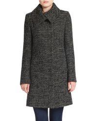 Jones New York Tweed Wool-blend Coat - Gray