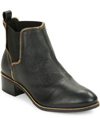 Klub Nico Zuzi Leather Ankle Boots - Black